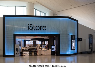 San Francisco California / United States - February 4 2020: SFO Harvey Milk terminal iStore