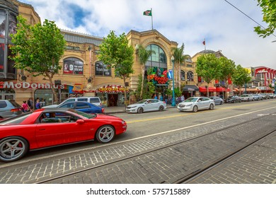 San Francisco, California, United States - August 14, 2016: Chevrolet LSX car on Jefferson rd.During the weekly luxury cars street parade. America travel tourism.Holidays, lifestyle and luxury concept