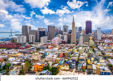 San Francisco, California, USA city skyline.