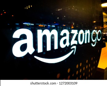 SAN FRANCISCO, CALIFORNIA / USA - December 26, 2018: Amazon Go grocery store that requires no check out and no lines opened this first store in 2018 near the Amazon headquarters - Image