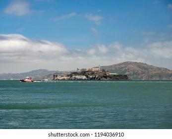 San Francisco, California, USA - July 2018: Alcatraz Prison Island