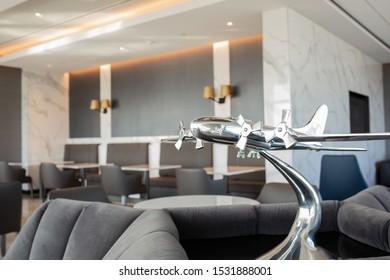 San Francisco, California/ USA - October 2, 2019: United Airlines Polaris Lounge at San Francisco Airport