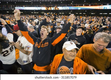 San Francisco, California, USA, October 16, 2014, AT&T Park, baseball stadium, SF Giants versus St. Louis Cardinals, National League Championship Series (NLCS)