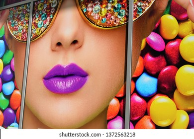 San Francisco, California (USA) - September 25, 2018. Candytopia, an interactive pop up museum visiting cities across the United States featuring pop art made out of candy.