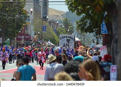San Francisco, California/USA - May 29, 2016: Cultural diversity Carnaval parade.