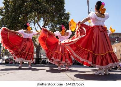 San Francisco, California/USA May 4, 2019 Cinco de Mayo festival/Mission District, music and dancing