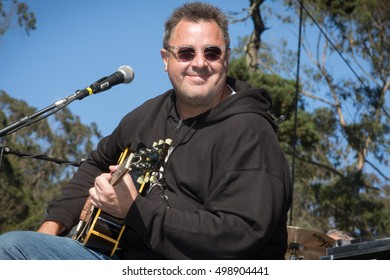 San Francisco, CA/USA - 10/1/16: Vince Gill performs at Hardly Strictly Bluegrass in Golden Gate Park.  He's worn 20 Grammy & 10 CMA Awards.  Also inducted into Nashville Songwriters Hall of Fame.