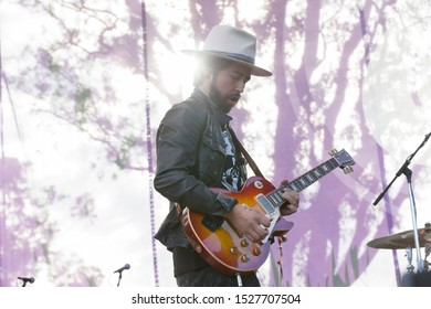 San Francisco, CA/USA - 10/6/19: Jackie Greene performs at Hardly Strictly Bluegrass in Golden Gate Park. He's an American singer-songwriter from California. In 2013 he joined The Black Crowes.