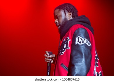 San Francisco, CA/USA - 2/2/19: Jamel Phillips aka ASAP Twelvyy (stylized as A$AP Twelvyy ) performs at the Bill Graham Civic. He's a member of the group ASAP Mob (stylized as A$AP Mob ).