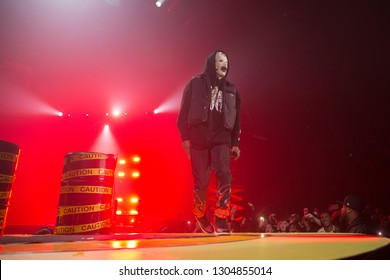 San Francisco, CA/USA - 2/2/19: Rakim Mayers aka ASAP Rocky (stylized as A$AP Rocky ) performs at the Bill Graham Civic. He's a rapper, songwriter, record producer, actor, and member of A$AP Mob.