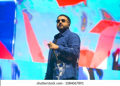 San Francisco, CA/USA - 3/31/18: Navraj Singh Goraya aka his stage name Nav (stylized as NAV) is a Canadian hip hop recording artist and record producer from Rexdale, Ontario, Canada.