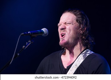 San Francisco, CA/USA - 8/17/16: San Francisco Giants pitcher Jake Peavy performs at The Fillmore.  He's a two time World Series champion, Cy Young Award winner, and three time All Star player.