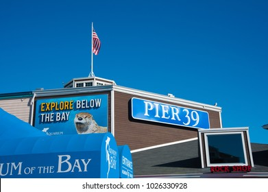 SAN FRANCISCO, CA/USA - FEBRUARY 03, 2018: Pier 39 is one of San Francisco's most popular tourist attractions