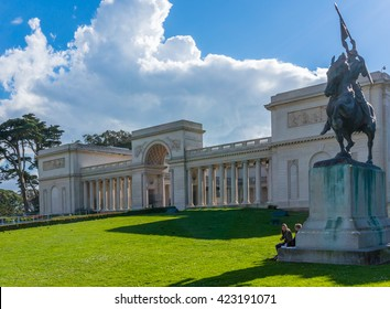 SAN FRANCISCO, CA/USA - FEBRUARY 28: The Legion of honor Museum in San Francisco, CA on Feb 28, 2015. It is a part of the Fine Arts Museums.