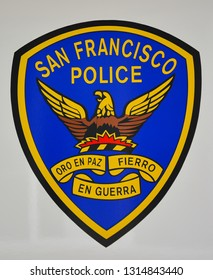 San Francisco, CA/USA - Jun. 14, 2015: The current patch of the San Francisco Police Department. Illustrative editorial.
