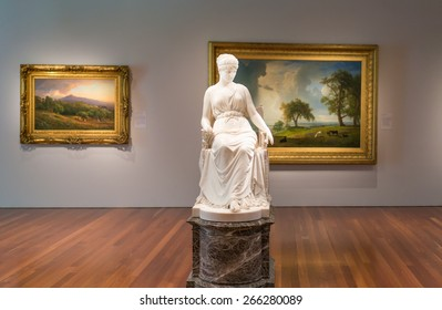 SAN FRANCISCO, CA/USA - MARCH 22: Fine Arts on display inside the De Young Museum in San Francisco, CA on Mar 22, 2015. The de Young is a fine arts museum located in San Francisco's Golden Gate Park.