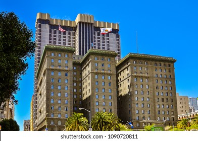San Francisco, CA/USA - May 9, 2012: The Westin St. Francis - a historic luxury hotel located on Powell and Geary Streets on Union Square in San Francisco, CA.