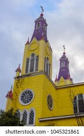 San Francisco church in Castro, Chiloe island, Chile