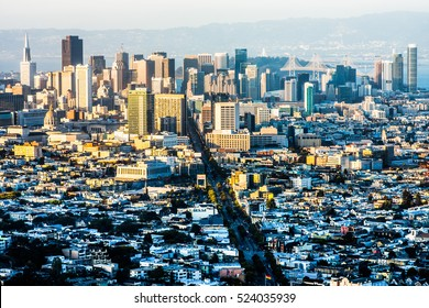 SAN FRANCISCO - CIRCA JULY 2015: Downtown San Francisco is home to many start-up companies in Silicon Valley.