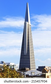 SAN FRANCISCO - CIRCA OCTOBER 2012: The Transamerica Pyramid in San Francisco, circa August 2012. Designed by W. Pereira, upon completion in 1972 it was among the 5 tallest buildings in the world