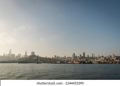 San Francisco City Downtown, California. seen from the water.