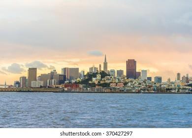 San Francisco City Downtown, California