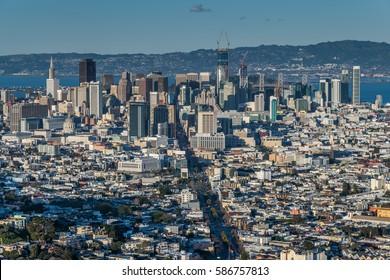 San Francisco City Skyline. California, United States.