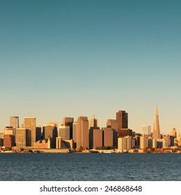San Francisco city skyline with urban architectures.
