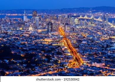 San Francisco City from Twin Peak