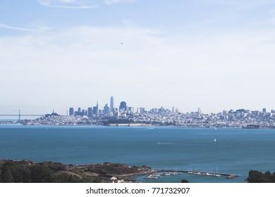 San Francisco downtown across the bay