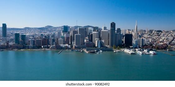 San Francisco Downtown, California aerial view