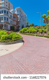 San Francisco, the famous Lombard Street, winding street in Russian Hill