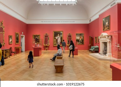 SAN FRANCISCO - FEB 3rd 2018: Inside of the Legion of honor Museum in San Francisco.  The Legion of Honor is a part of the Fine Arts Museums of San Francisco.