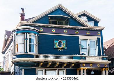 SAN FRANCISCO - FEBRUARY 15: Classic victorian houses in San Francisco, California, USA