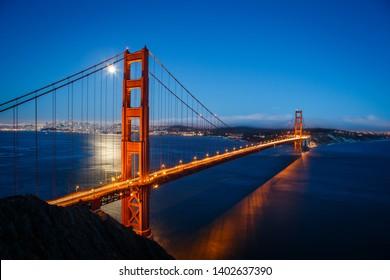 San Francisco Golden Gate Bridge Supermoon