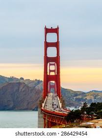 San Francisco Golden Gate Bridge at sunset