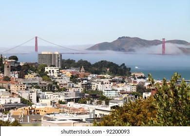 San Francisco and Golden Gate Bridge, California