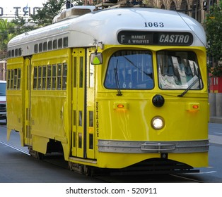 San Francisco historic street car (yellow)