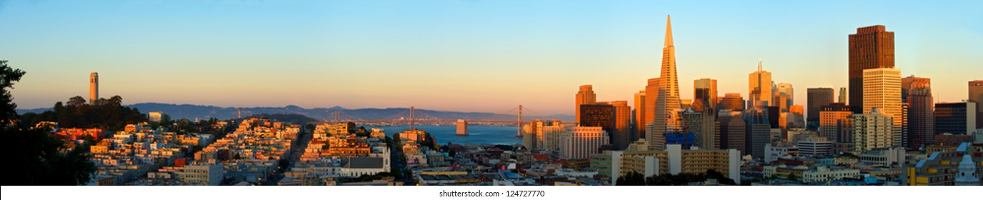 San Francisco. Image of San Francisco skyline with Bay Bridge