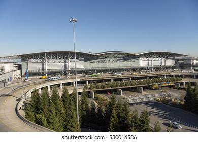 San Francisco International Airport, San Mateo County, California, USA August 9, 2016. The international terminal of San Francisco International Airport, or SFO.