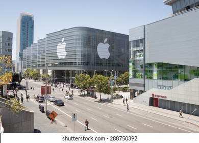 SAN FRANCISCO - JUNE 11 2015: Apple WWDC 2015 event feature the greatest in Apple technology products in the Moscone Center on June 11, 2015 in San Francisco, California.