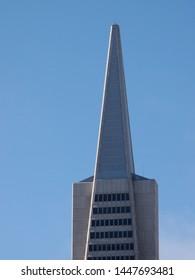 San Francisco - June 16, 2013: Top of Transamerica Pyramid in downtown of San Francisco City, California.