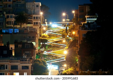 San Francisco Lombard Street at night