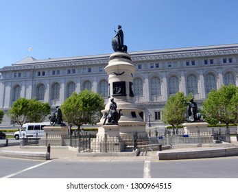 San Francisco - May 21, 2009:  San Francisco Pioneer Monument in the middle of the street at the Civic center.  This Pioneer Monument in Civic Center was one of many gifts to California by James Lick,