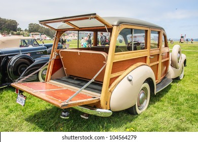 SAN FRANCISCO - MAY 27: A 1940 Pontiac Woody Wagon is on display during the Golden Gate Bridge 75th Anniversary in San Francisco on May 27, 2012