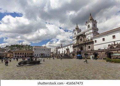 San Francisco, the most imposing Catholic church built in the colonial era, in the center of Quito.