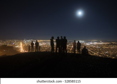 San Francisco at night, from Twin Peaks, in San Francisco, California.