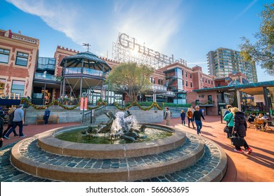 SAN FRANCISCO - NOV 24 :Visitors in Ghirardelli Square San Francisco CA.It's a famous landmark public square with shops and restaurants of San Francisco, California on November 24, 2016.