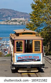 SAN FRANCISCO - NOVEMBER 2nd: The Cable car tram, November 2nd, 2012 in San Francisco, USA. The San Francisco cable car system is world last permanently manually operated cable car system.