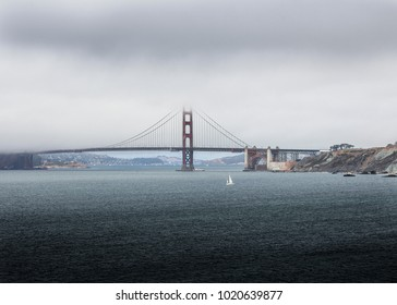 San Francisco, CA/USA– October 14, 2017: The Golden Gate Bridge as seen from Lands End